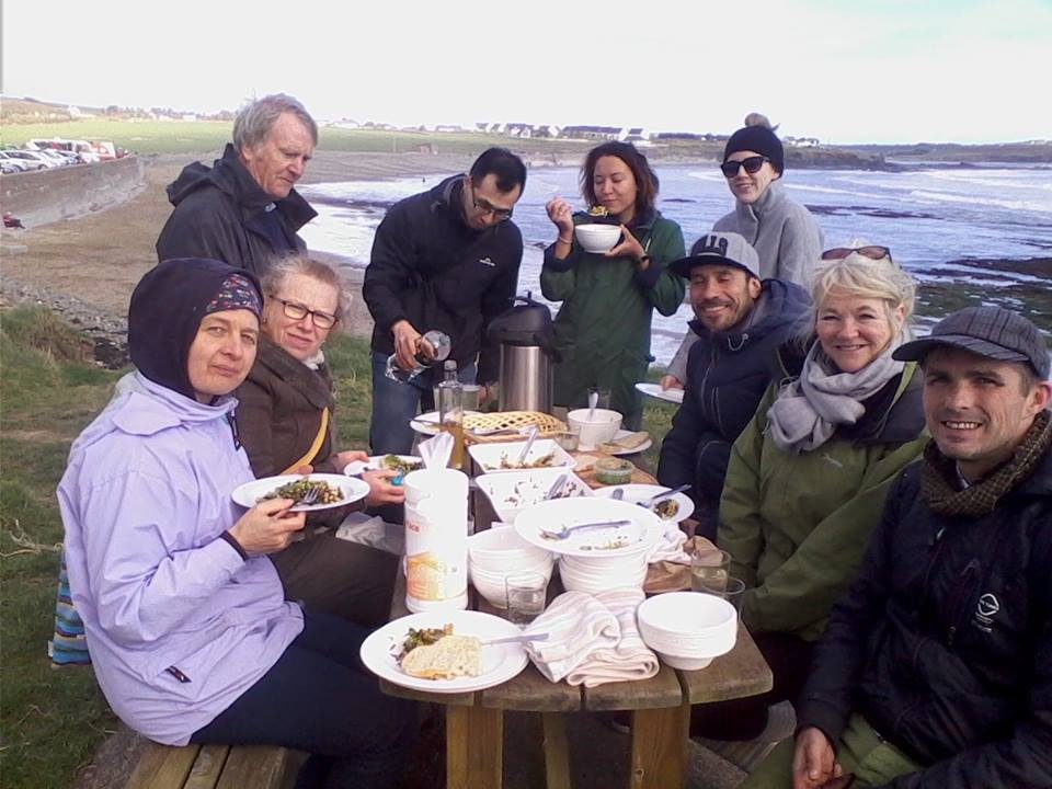 Very cold weather but worth it for the delicious picnic